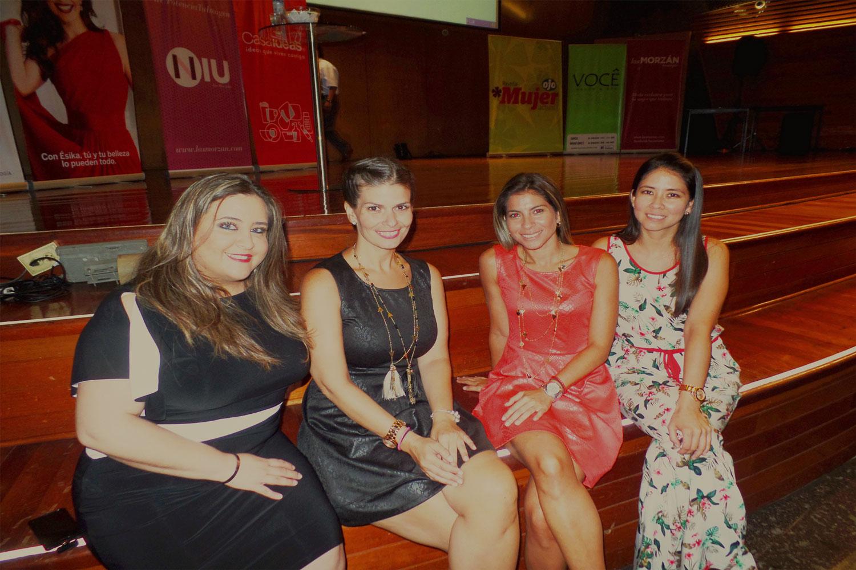 De izquierda a derecha, María Inés Escalante de Sephia, Fiorella García-Pacheco Morzán de Las Morzán Boutique, NIU y Divina Ejecutiva, Claudia Morzán Scerpella de Las Morzán Boutique y NIU y Carla Reátegui de Yerbatero.