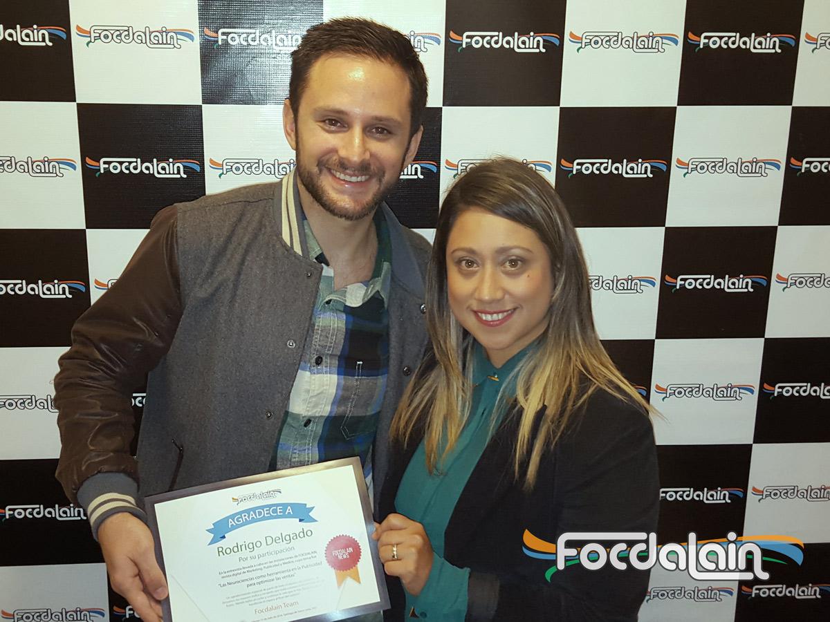 Rodrigo Delgado Ehni y Alexandra Montoya Vega en Focdalain
